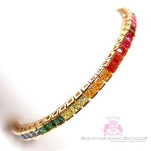 "7.75"" Beauty for Ashes Gold Pl God's Promise Over the Rainbow CZ Tennis ... - $268.00"