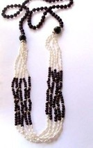 Genuine Garnet Beaded Necklace Elegant Glamorous Sophist Rice Pearls 14 K Beaded