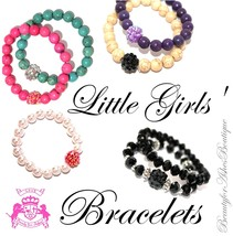 Beauty for Ashes Little Girls Children Pearl Stone Crystal Bead Stretch ... - $6.97+