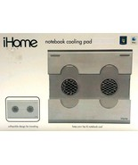 Cooling Pad Notebook Laptop 2 Fans USB Travel Office Home School iHome New - $18.80