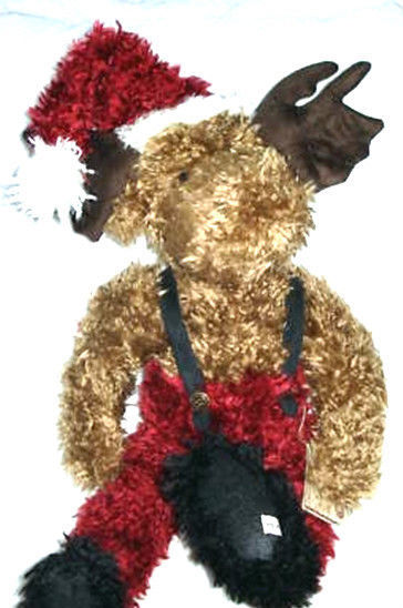 "Primary image for Boyds Bear  ""Father Chrismoose""  #93822V  - 20"" Plush Moose- QVC EXCLUSIVE -NWT"