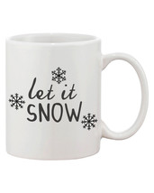 Cute Snowflakes Winter Coffee Mug - Let It Snow (JMC006) - $14.99