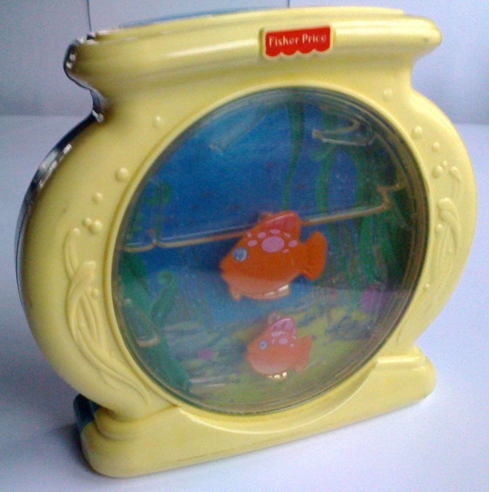 Vintage FISHER PRICE OCEAN WONDERS AQUARIUM Soother Lights Music Sea Moving Fish - $15.68