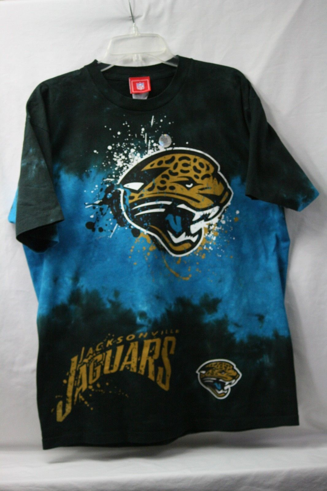 7a8018a1 57. 57. Jacksonville Jaguars Fade Tie Dye Men's T-Shirt Dark Blue New  Without Tags