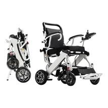 Exclusive Lightweight Folding Power Wheelchair Heavy Duty Dual Motor Com... - $2,021.17