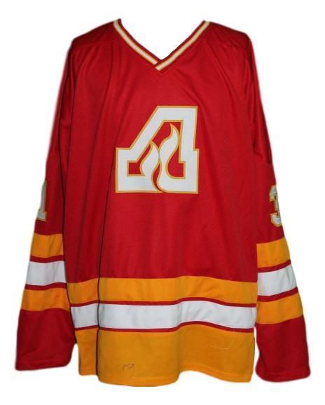 Lemelin  31 custom atlanta flames retro hockey jersey red   1