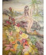 "LYDIA DARVAS ""MY PARADISE"" HAWAII MIXED MEDIA PAINTING - $99,467.00"