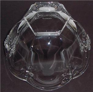 Lenox  Butterfly Meodow Pattern Medium Size Glass Bowl By Lenox Crystal