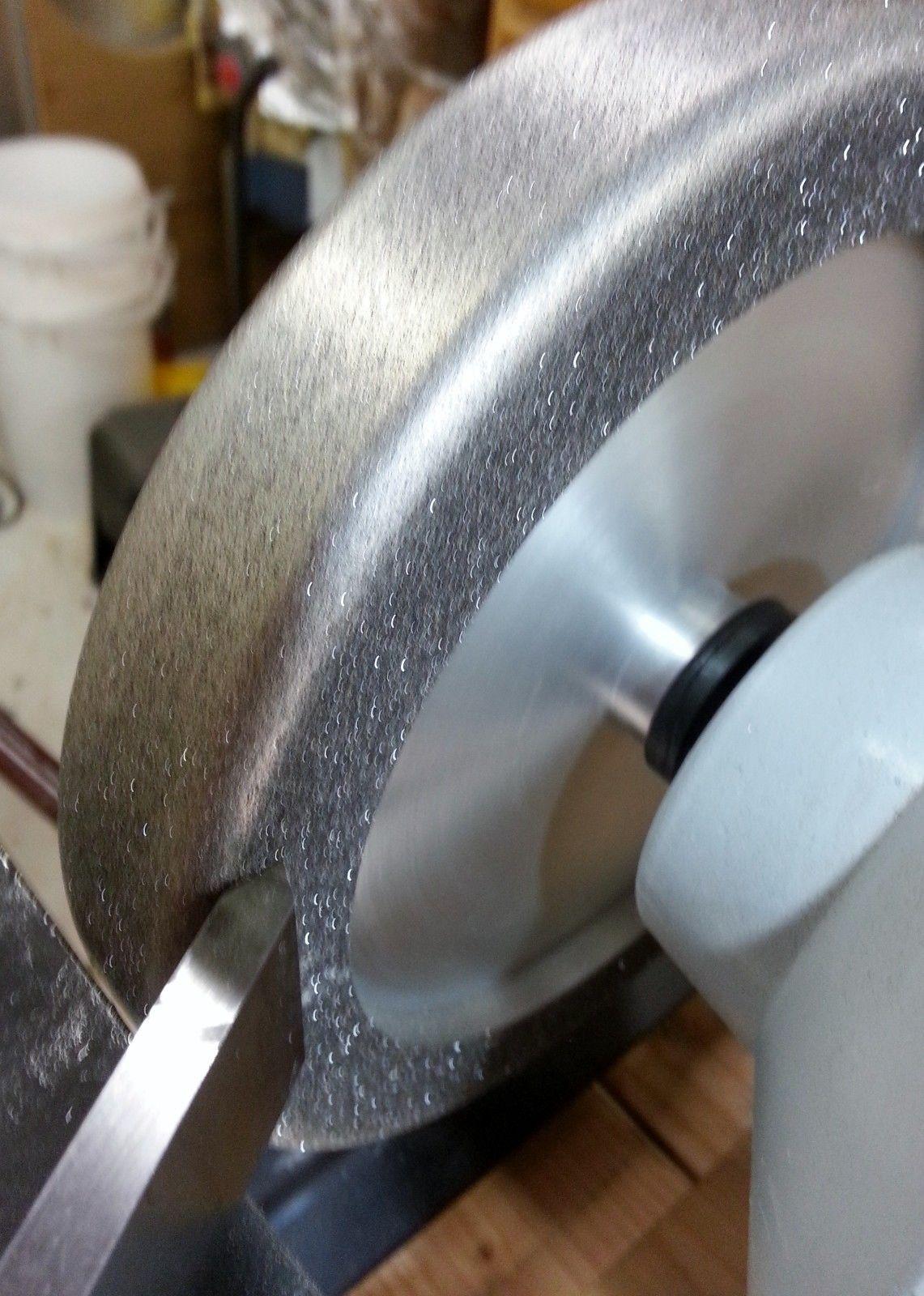 """BEST VALUE anywhere! 600 grit 5//8/"""" arbor CBN 8/"""" Aluminum Wheel"""