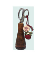 Cranberry Kissing Ball Ornament/Fob (p+526) JABC Just Another Button Co - $27.00