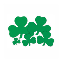"Beistle Printed Shamrock Cutout 5""- Pack of 144 - £26.40 GBP"