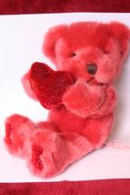 Valentine Russ Bear holding Heart - $7.99