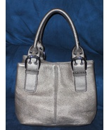 Tignanello Satchel Gold Pebble Grain Leather Ha... - $22.00