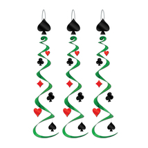 """Beistle Card """"Suit"""" Whirls 30"""" (3 Ct)- Pack of 6 - $33.09"""