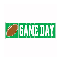 "Beistle Game Day Football Sign Banner 5' x 21""- Pack of 12 - £42.98 GBP"