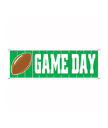 "Beistle Game Day Football Sign Banner 5' x 21""- Pack of 12 - £41.69 GBP"