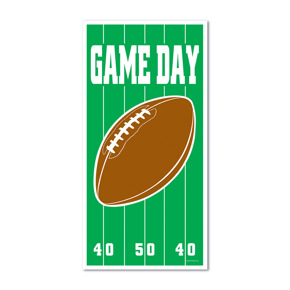 "Beistle Game Day Football Door Cover 30"" x 5'- Pack of 12"