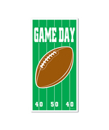 "Beistle Game Day Football Door Cover 30"" x 5'- Pack of 12 - £37.18 GBP"