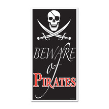 "Beistle Beware Of Pirates Door Cover 30"" x 5'- Pack of 12 - $51.92"