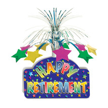 "Beistle Happy Retirement Centerpiece 13""- Pack of 12 - $48.83"