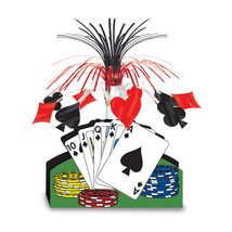 "Beistle Playing Card Centerpiece 13""- Pack of 12 - $48.83"