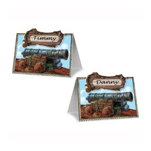 """Beistle Pirate Cannon Place Cards 2 1/2"""" x 4"""" (8 Ct)- Pack of 12 - $31.00"""
