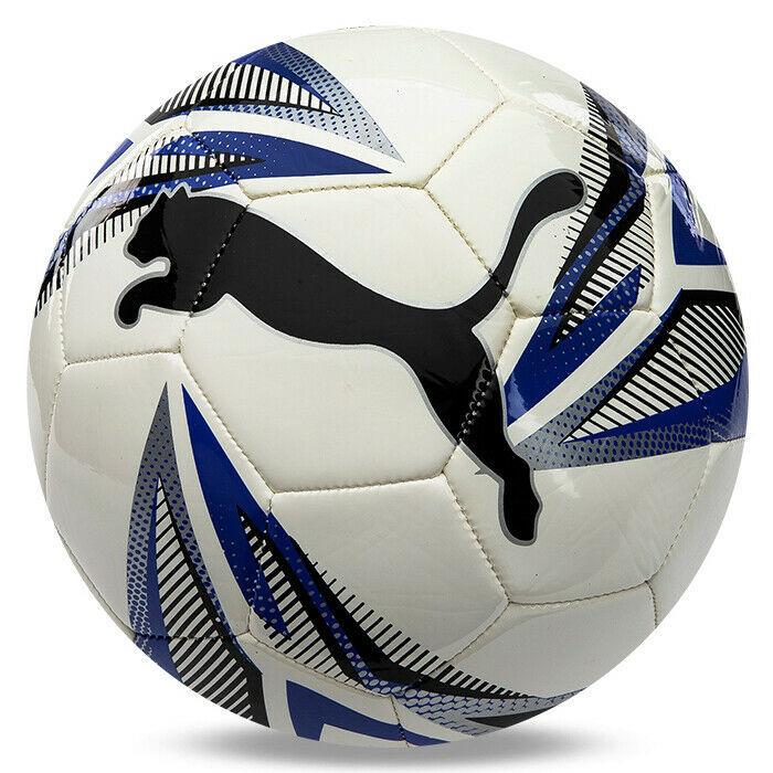 Puma ftblPLAY Big Cat Soccer Football Ball White/Blue/Black 08329202 Size 5 - $29.99