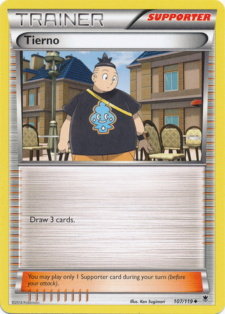 Tierno 107/119 Uncommon Trainer Phantom Forces Pokemon Card
