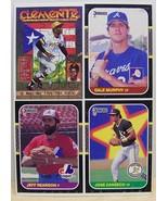 1987 Donruss baseball card box bottom panel Canseco,Murphy,Clemente - $6.00