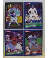 1986 Donruss baseball card box bottom panel Gibson,Hernandez,Aaron,DeCinces - $6.00