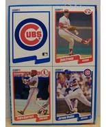 1990 Fleer baseball card box bottom panel Franco, Walton,Guerrero - $6.00