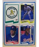 1990 Fleer baseball card box bottom panel Griffey Sierra Puckett - $6.00