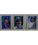 1989 Topps baseball card box bottom panel cards Brett Buckner Gossage - $5.00