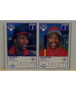 1987 Kraft baseball cards box panel Vince Coleman, Joe Carter - $6.00