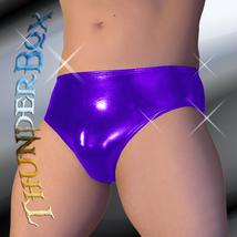 Thunderbox Chrome Metal Purple Swim, Wrestle, Poser Brief, Dancers, Costumes S-X - $23.00