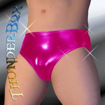 Thunderbox Chrome Metal Magenta Swim, Wrestle, Poser Brief, Dancers, Costumes S, - $23.00