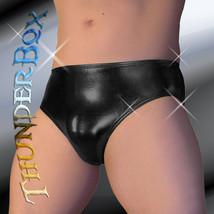 Thunderbox Liquid Metal Black Swim, Wrestle, Poser Brief, Dancers, Costume S-XL - $23.00