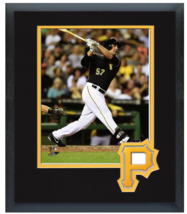Andrew Lambo 2014 Pittsburgh Pirates - 11 x 14 Team Logo Matted/Framed Photo - $43.95