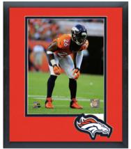 Rahim Moore 2014 Denver Broncos - 11 x14 Team Logo Matted/Framed Photo - $836,92 MXN
