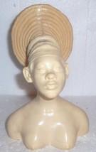 MARBLE RESIN AFRICAN WOMAN BUST HEAD FIGURE  A.SANTINI - $484.14