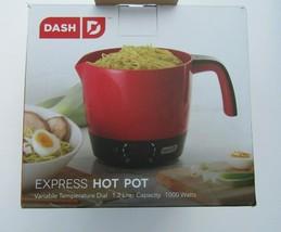 Dash Express Hot Pot Electric Pasta Rice Soup Cooker Temp Control 32 Oz ... - $24.99