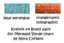 Kreinik #4 Braids 2 spools Mermiad Verde NC192K... - $6.00