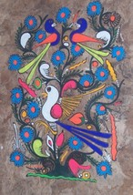MEXICAN LATINO AMATE BARK INDIAN FOLK ART PAINTING - $182.24