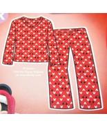 Disney Womens Mickey Mouse 2 Piece Pajama Set SZ 1X Red Gift Ribbon NEW - $32.99