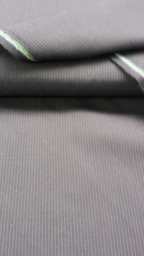 7 yard super fine Vintage Blue Gray  italian wool suit fabric