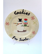 "Oneida Snowmates Snowmen ""Cookies For Santa"" 12"" Christmas Serving Plate - $8.99"