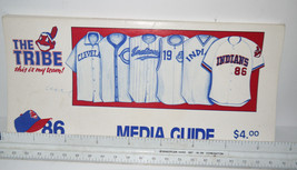1986 Cleveland Indian's Media book  Souvenir with pics & stats NICE shape! - $10.07