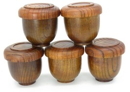 Bulk product jar Japanese style wooden comfortable bowl deep toy wood - $11.99