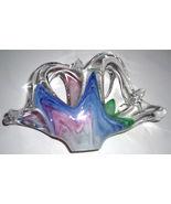 MURANO GLASSWARE HANDBLOWN ABSTRACT ART GLASS DISPLAY - $133.49