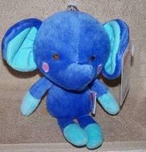 """Fisher Price My Little SnugaMonkey Mini Blue Elephant Plush  8"""" NWT image 2"""